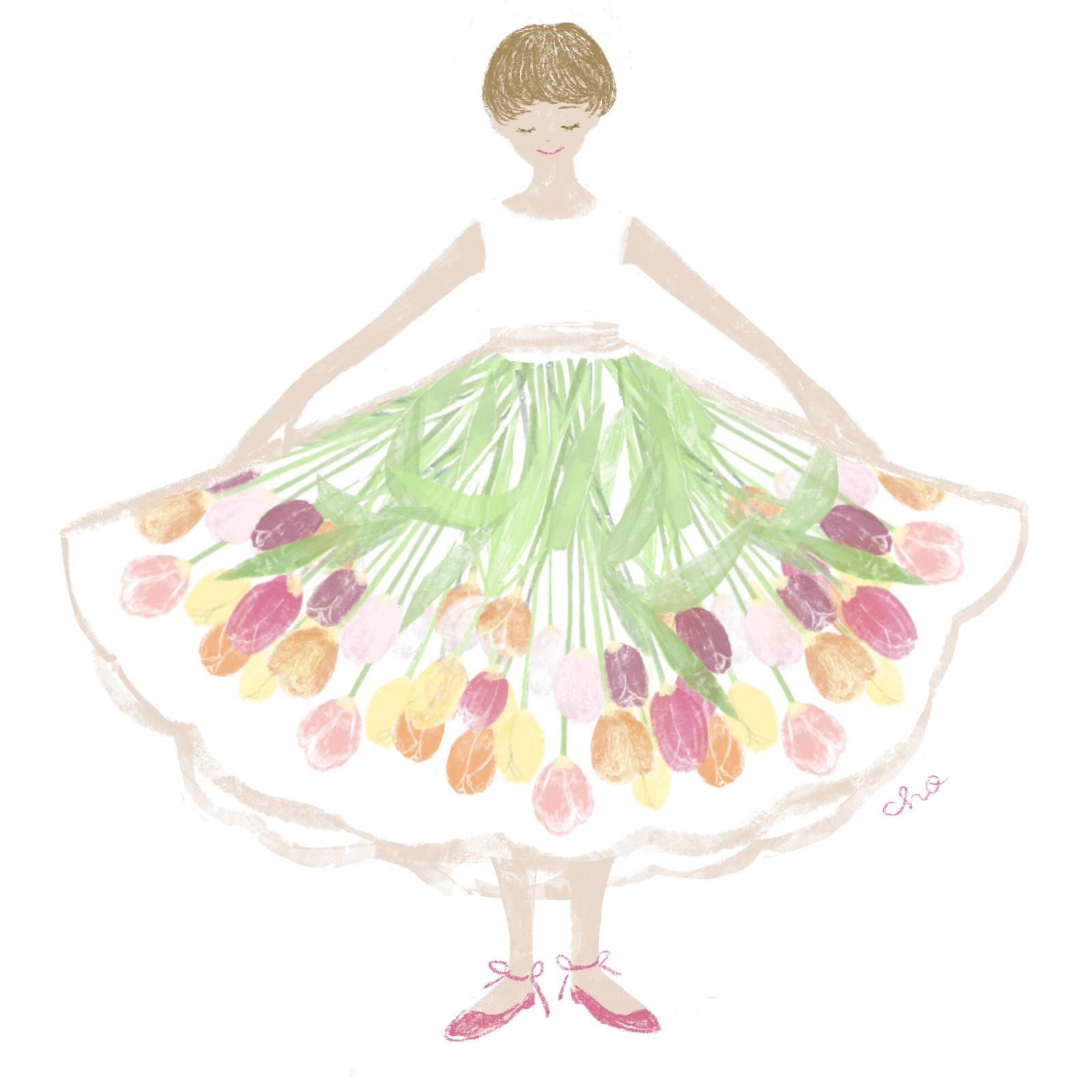 春のスカート